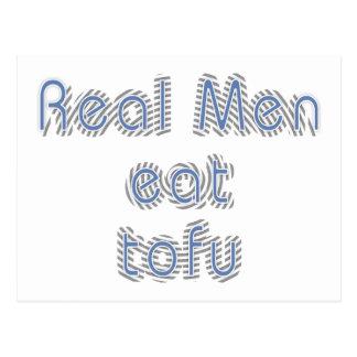 Wirkliche Männer essen Tofu Postkarte