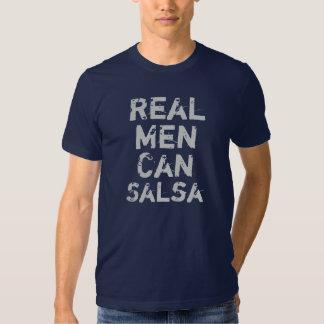 Wirkliche Männer konservieren Salsa in Büchsen T Shirts