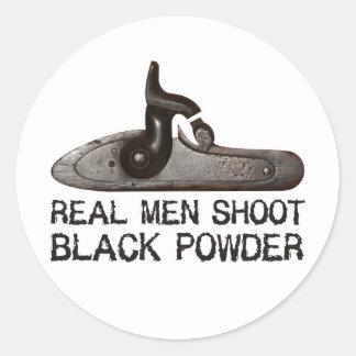 Wirkliche Männer schießen Schwarzpulver, Runde Sticker