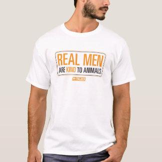Wirkliche Männer sind zum Tier-Shirt nett T-Shirt