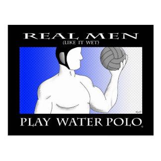 Wirkliche Männer: Spiel-Wasserball Postkarte