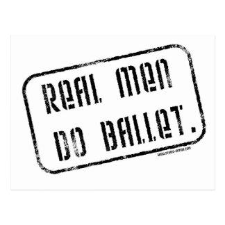 Wirkliche Männer tun Ballett Postkarte