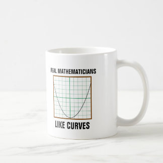 Wirkliche Mathematiker mögen Kurven Kaffeetasse