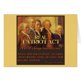 Wirkliche Patriot Act, die Gründerväter Karte