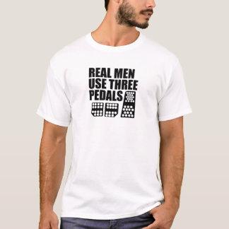 Wirkliche Pedale des Mann-Gebrauchs-3 T-Shirt