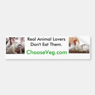 Wirkliche Tierliebhaber essen sie nicht Auto Aufkleber