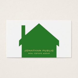 Wirklicher Anwesen-Agent-moderner stilvoller Visitenkarte