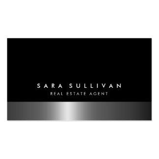 Wirklicher Anwesen-Agent-mutige dunkle Visitenkarten