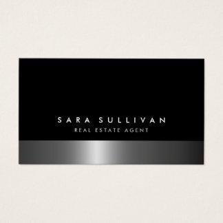 Wirklicher Anwesen-Agent-mutige dunkle Visitenkarte