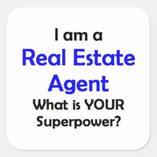 wirklicher Anwesen-Agent Quadratischer Aufkleber