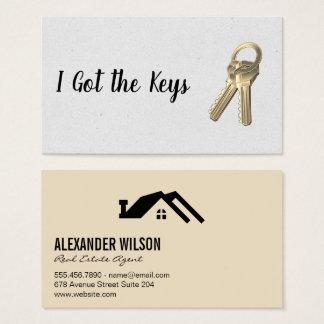 Wirklicher Anwesen-Agent/Schlüssel Visitenkarte