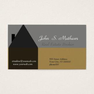 Wirklicher Anwesen-Agent und wirkliches Anwesen Visitenkarten