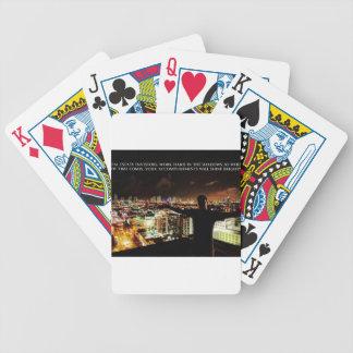 Wirklicher Anwesen-Investor-Druck - Arbeits-harte Bicycle Spielkarten
