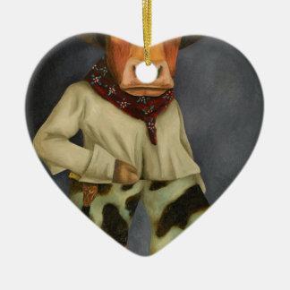 Wirklicher Cowboy 2 Keramik Ornament