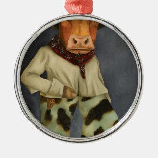 Wirklicher Cowboy 2 Silbernes Ornament