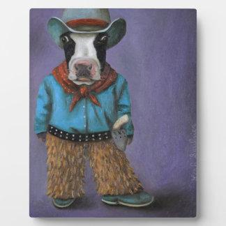 Wirklicher Cowboy Fotoplatte