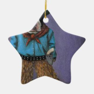 Wirklicher Cowboy Keramik Ornament
