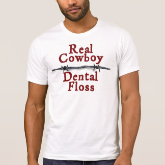 Wirklicher Cowboy zerstörter T - Shirt