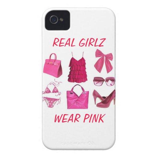 Wirklicher girlz Abnutzungs-Rosafall Case-Mate iPhone 4 Hülle
