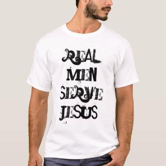 Wirklicher Mann-Aufschlag Jesus T-Shirt