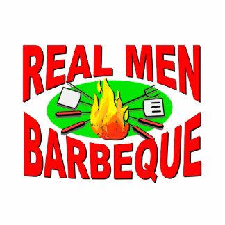 Wirklicher Mann-Grill. Lustiger Entwurf für den Freistehende Fotoskulptur