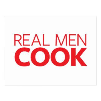 Wirklicher Mann-Koch Postkarte