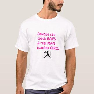 Wirklicher Mann-Trainer Mädchen-Fastpitch Softball T-Shirt