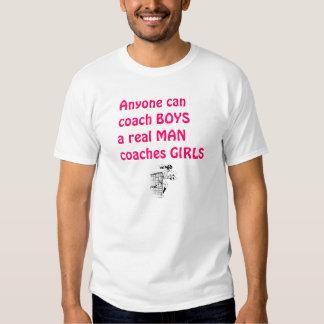 Wirklicher Mann-Trainer Mädchen-Fußball Hemd