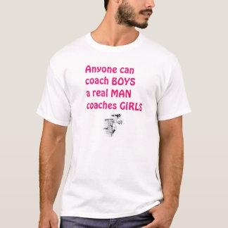 Wirklicher Mann-Trainer Mädchen-Fußball T-Shirt