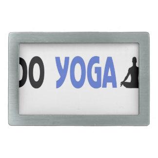 wirklicher Mann tun Yoga Rechteckige Gürtelschnalle