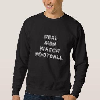 Wirklicher Mann-Uhr-Fußball - Sweatshirt