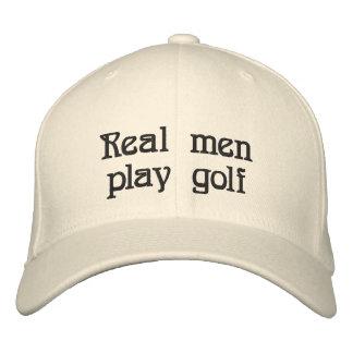Wirklicher Mannspiel-Golfhut Bestickte Kappe