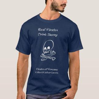 Wirklicher Piraten-Getränk-Sherry (Licht auf T-Shirt