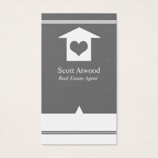 Wirkliches Anwesen-Agent-Geschäfts-Karten-graues Visitenkarte