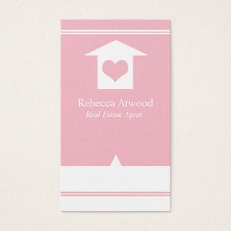 Wirkliches Anwesen-Agent-Geschäfts-Karten-Rosa Visitenkarte