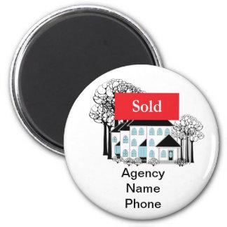 Wirkliches Anwesen verkaufend, fördern Sie Ihr Runder Magnet 5,1 Cm