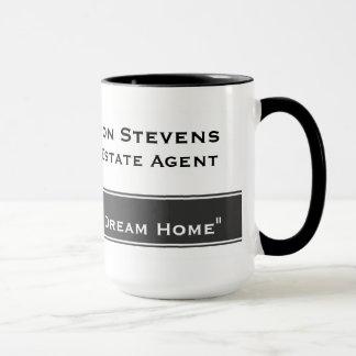 Wirkliches Anwesen-weiße graue Streifen-Tassen Tasse
