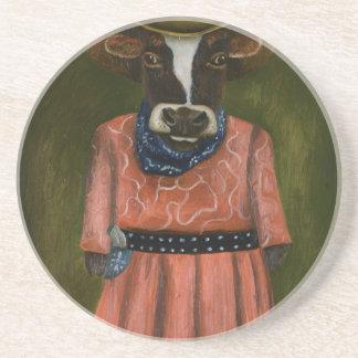 Wirkliches Cowgirl Getränkeuntersetzer