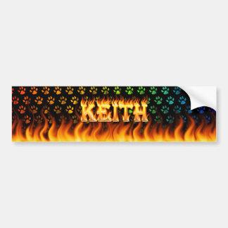 Wirkliches Feuer Keith und Autoaufkleber