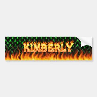 Wirkliches Feuer Kimberlys und Autoaufkleber