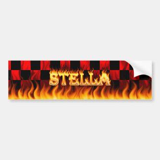 Wirkliches Feuer Stella und Autoaufkleber