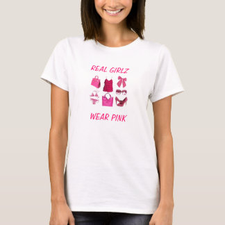 Wirkliches girlz Abnutzungsrosa T-Shirt