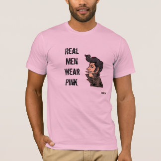 """""""Wirkliches Herrenbekleidung-Rosa-"""" - T-Stück T-Shirt"""