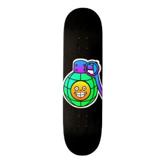 Wirkliches Ink™ smiley-Granaten-Schwarz-Skateboard 19,7 Cm Skateboard Deck