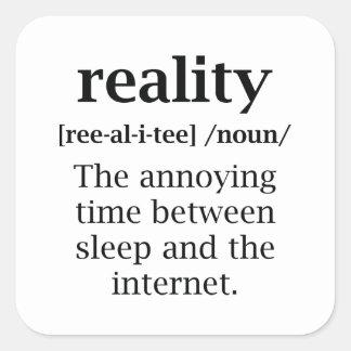 Wirklichkeits-Definition Quadratischer Aufkleber