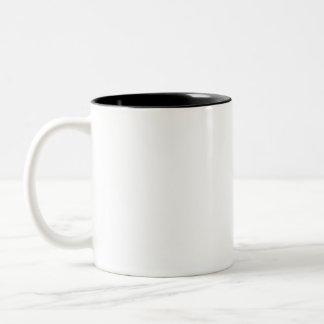 Wirklichkeits-Karo-Tasse #3 (rechtshändig) Zweifarbige Tasse