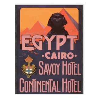 Wirsing-Hotel-kontinentales Hotel Ägyptens Kairo, Postkarten