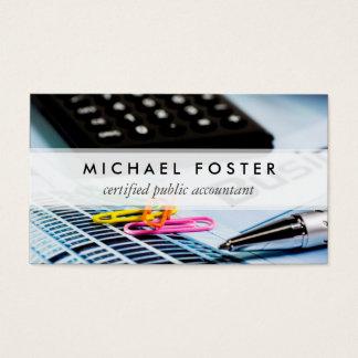 Wirtschaftsprüfer-einfaches minimales elegantes visitenkarten
