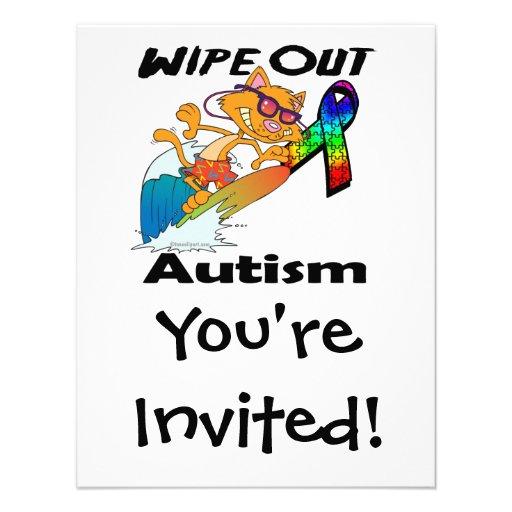 Wischen Sie Autismus weg Ankündigung