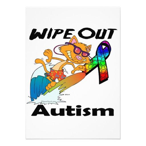 Wischen Sie Autismus weg Individuelle Einladungskarte